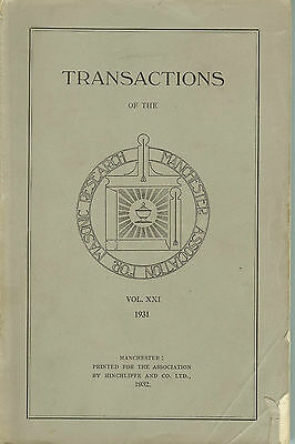 Transactions of The Manchester Association for Masonic Research - 1931 Vol. XXI
