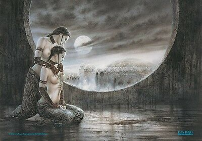 Luis Royo Two Girls Moonlight large fabric poster / flag   1100mm x 750mm (hr)