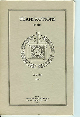 Transactions of The Manchester Association for Masonic Research-1980 Vol. LXX