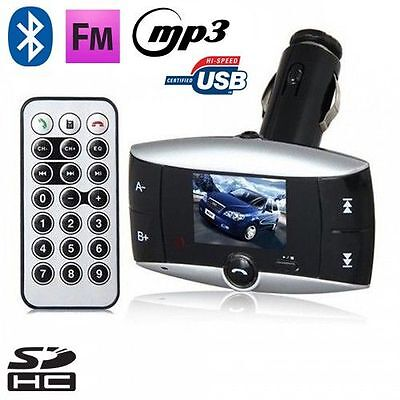 Transmetteur FM voiture Bluetooth 2.0 MP3 kit main libre USB Carte SD Jack 3.5mm