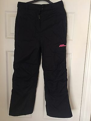 Girls Or Boys 'no Fear' Black Ski Salopettes/trousers Size 9-10 Yrs