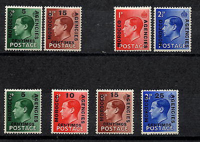 Great Britain, 8 stamps 1936 MOROCCO AGENCIES , MH, 3 full sets