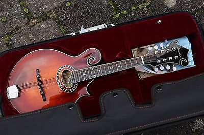 NEU Eastman MD614 F4 F-Style Mandoline oval SH K&K Pick-Up Folk vollmassiv Case