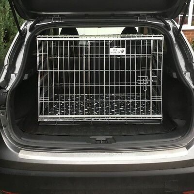New Nissan Qashqai 07 - 13 Sloping Car Dog Cage Boot Travel Crate Puppy Guard