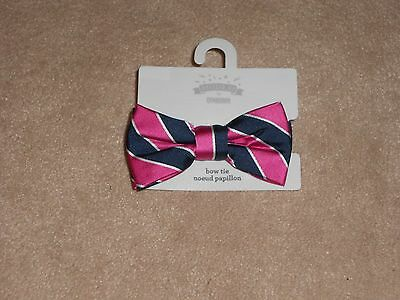 New, Gymboree Toddler Boys Striped Bow Tie, Size 2T-5T