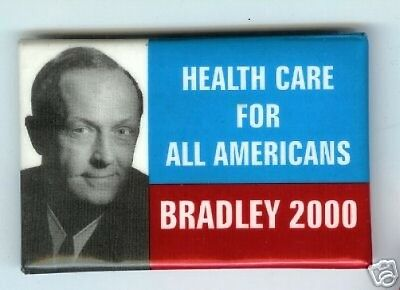Bill BRADLEY Health Care pin President NBA Basketball
