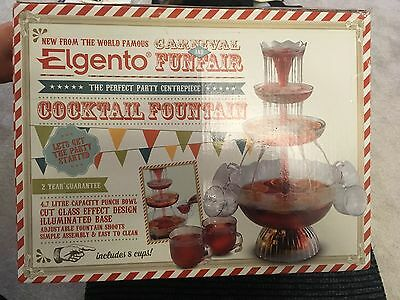 Elgento E26008 Illuminating Cocktail Fountain, Includes 8 Cups, 650 ml - clear
