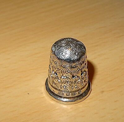 Antique Charles Horner Silver Thimble  Daisy Design  C.1895/96