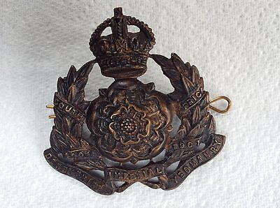 """WW1 """" The Derbyshire Imperial Yeomanry """" Brass Hat Badge """" K C Original Issue"""