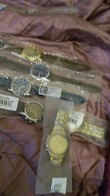 mens watches,four leather strap,+two stainless steel,6 (new)