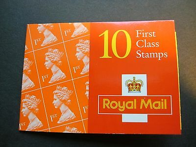 GB 1996 Folded Booklet of ten first class stamps, Barcode 100197, ASDA Offer