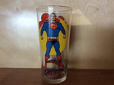 1976 Pepsi Collector Series Superman Full Moon Glass In Mint Shape