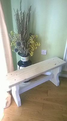 3ft Shabby Chic Bench rustic style kitchen hallway conservatory porch