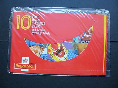 GB 1990 Smile Greetings booklet of Ten 20p stamps, Barcode 100173, Sealed