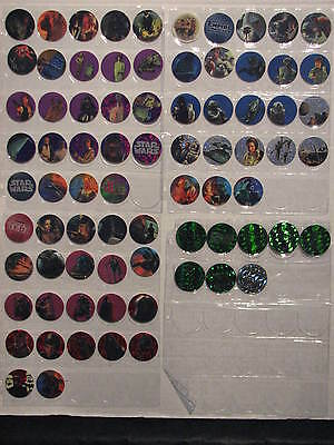 Star Wars 1995 Canada Games 69 Pogs + 8 Slammers - Ex. Condition