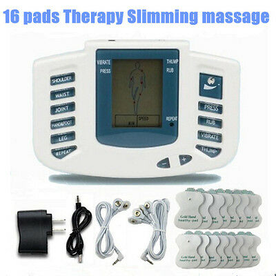 Electronic Slimming Muscle Stimulator Body Sculptor Massager 16 pcs Pulse
