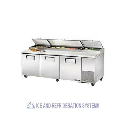 "93"" Commercial Triple Door Pizza Prep Refrigerator Cooler Table C-Pp93"