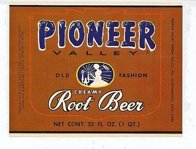 Five 1960's Pioneer Valley Old Fashion Creamy Root Beer Label