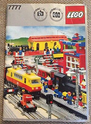 Lego 7777 Ideas Book In Great Condition 12V & 4.5V Train