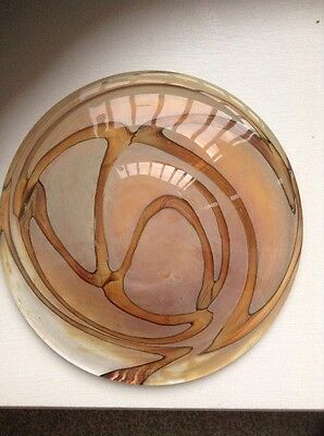 Mdina Art Glass Dish Signed