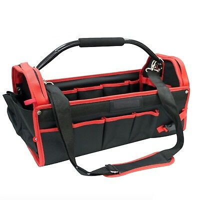"""Heavy Duty 18"""" 450Mm Tool Box Chest Bag Storage Tote Bag Caddy Holdall Case New"""