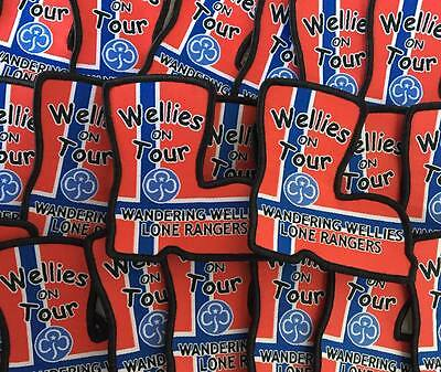 Welly Norway guide, rainbow, brownie, scout badge patch
