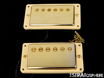 USA Gibson Les Paul 498T & 490R Humbucker PICKUP SET Gold Quick Connect SALE!