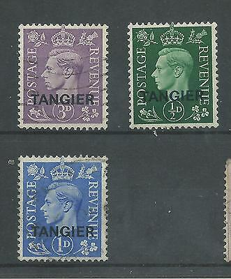 Tangier - 1937 To 1949 - SG245 SG263 & SG281 - CV £ 6.00 - used & mounted mint