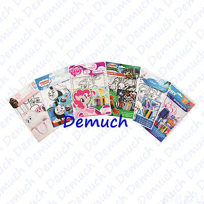 New Official Licensed COLOURING SET SHEETS Pencils Stickers Disney Dory Thomas ✔