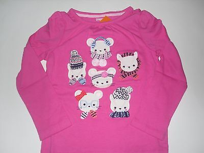 NWT Girls Gymboree Fair Isle Furry Pink  Long Sleeve T Shirt Top 5T 5 New