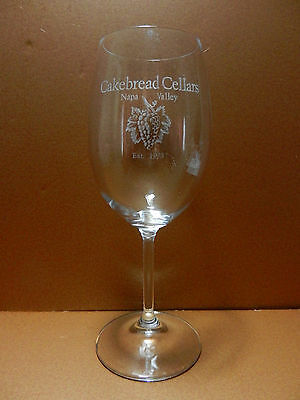Cakebread Cellars Stemmed Wine Glass Nap Valley California Winery