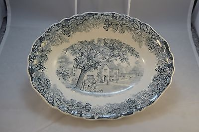 J & G Meakin Romantic England Sulgrave Manor Oval Bowl
