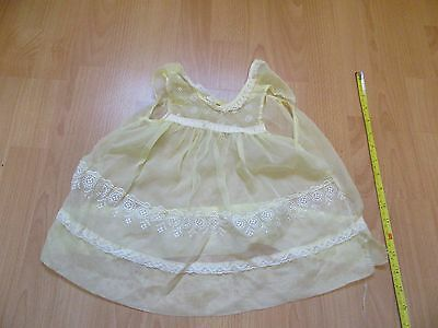 vintage 1960's baby dress yellow