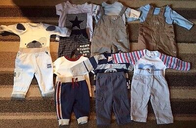Baby Boys Clothes Bundle 0-3 Months Complete Summer Outfits Dungarees A21