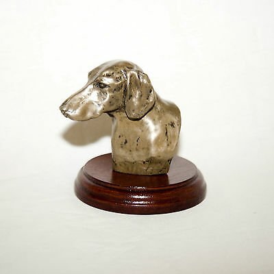 DACHSHUND Bronze Head /Bust. Hand made in England. Ideal gift.