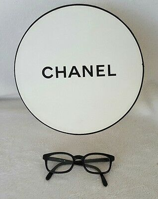 "Authentic Chanel~Large~9-1/4"" by 4-1/8""~Gift-Storage-Display Box~White w/ Black"