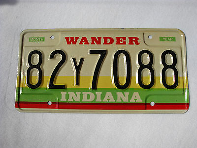 Unused INDIANA WANDER COUNTY Vintage License Plate #82Y7088