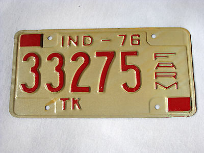 Unused INDIANA Vintage FARM TRUCK License Plate #33275