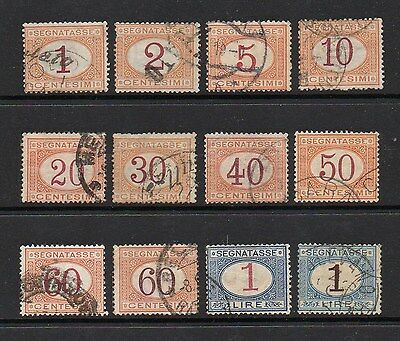 Italy 1870-94 Postage Due Stamps To 1 Lire - Good Used Sg D22-33 - High Cat £105