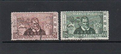 Italy 1954 Marco Polo Set - Sg 869-870 Good Used - High Cat Value £7
