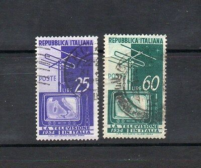 Italy 1954 Introduction Of Television - Sg 863-864 Good Used - High Cat Value £6
