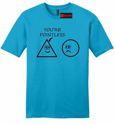 6165b73878 You're Pointless Funny Math Mens Soft T Shirt College Humor Teacher Gift Tee  Z2