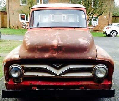1955 Ford F100 -Rare Custom Cab V8 (not Chevrolet, hot rod rat rod)
