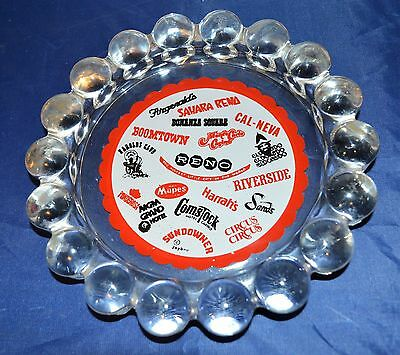 Vintage Jaybee Reno Casino Ashtray - Harrahs, MGM, Sands, Fitzgeralds, Harolds