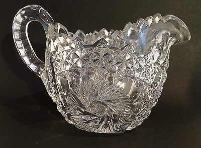EAPG Creamer, Comet in the Stars Pattern, US Glass, 1913, Antique