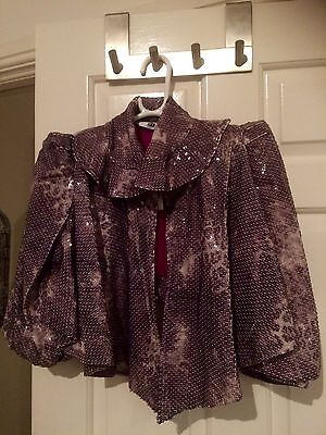 Beautiful cropped sequinned jacket.  Size 12. RRP £90.00