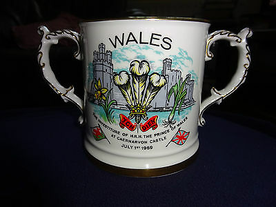 1969 Investiture Charles Prince Of Wales Large China Hammersley Loving Cup.