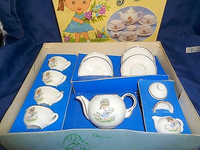 VINTAGE RETRO 1950s BOXED CHILDS TOY CHINA TEA SET LOVELY CONDITION ORIGINAL BOX