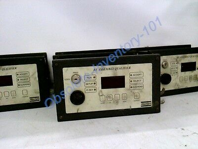 Lot Of 7 Atlas Copco Monitor Error Proofing - Re Assembly Qualifier 9810705023
