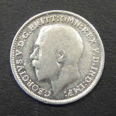 1916 British Silver 3d ~ Threepence coin, looks uncirculated